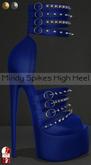 Bens Boutique - Mindy Spikes High Heel (slinkhighfeet) Navy
