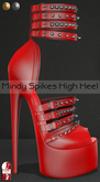 Bens Boutique - Mindy Spikes High Heel (slinkhighfeet) Red2