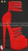 Bens Boutique - Mindy Spikes High Heel (slinkhighfeet) Red