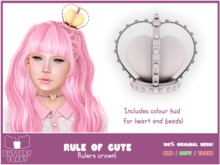 .: Buttery Toast:. The Rule of cute - Crown - White - 100% original mesh