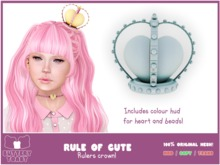 .: Buttery Toast:. The Rule of cute - Crown - Blue - 100% Original mesh