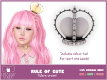 .: Buttery Toast:. The Rule of cute - Crown - Silver - 100% Original mesh