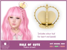 .: Buttery Toast:. The Rule of cute - Crown - Gold - 100% Original mesh