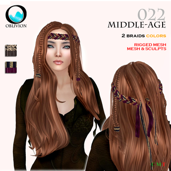 Second Life Marketplace Oblivion Middle Age 022 Demo Medieval Hairstyle