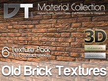 6 Old Brick Wall Textures - Full Perm - DT Material Collection