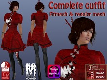 Hong Se Happy Dress Complete Outfit - Mesh and Fitted Mesh DEMO