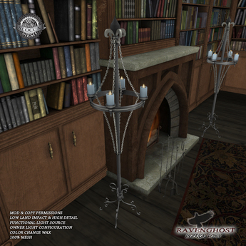 Ravenghost Chained Candle Stand (Copy, Mod)