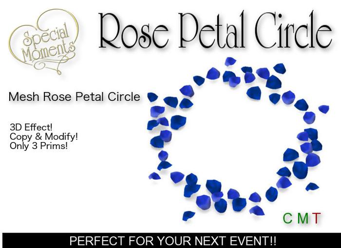 Rose Petal Circle (Blue) - Mesh! Copy!!