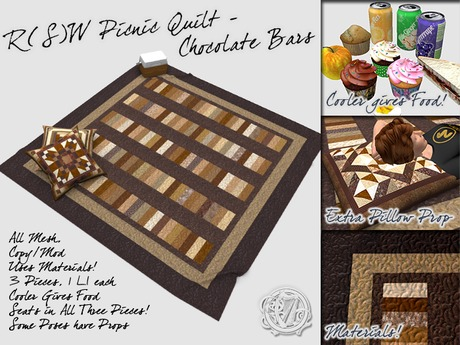 R(S)W Picnic Quilt - Chocolate Bars