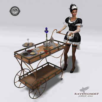Victorian Coffee Service Cart (Wearable OR Decor)