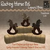 Leopard-skin Rocking Horse set of 3 (bagged)