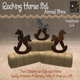 ~Sleepy Moon~ Rocking Horse Animal prints(bagged)