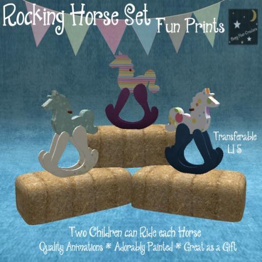 ~Sleepy Moon~ Rocking Horse Fun Prints(bagged)