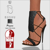 Bushu Pagan Sandals Charcoal