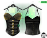 F.A.D. // Bombshell Studded Corset /BLACK -  FitMesh/Materials