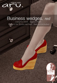 aru.Business wedges *Red* ADD