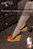 aru. Business wedges  *Brown/orange* ADD