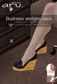 aru. Business wedges  *Black* ADD
