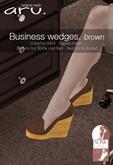 aru. Business wedges  *Brown* ADD