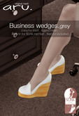 aru. Business wedges  *Grey* ADD