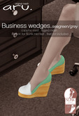 aru. Business wedges *Seagreen/grey* ADD