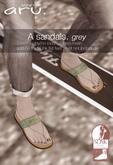 aru. A sandals (Grey) *add*