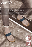 aru. A sandals (Blue) *add*