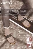 aru. A sandals (Suede) *add*