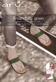 aru. A sandals (Green) *add*