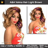 A&A Velma Hair Light Brown (Special Color). Classy soft-curled womens hairstyle. Promo!