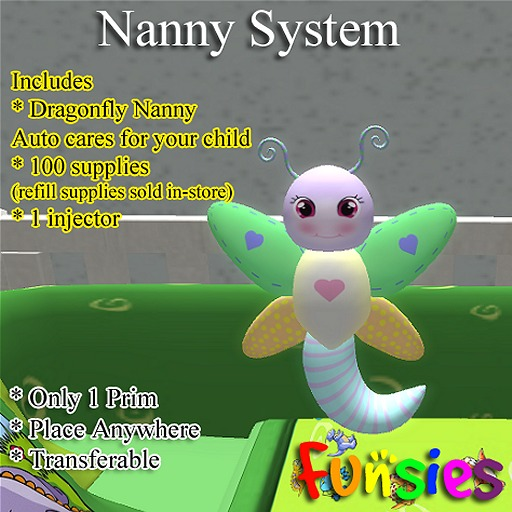 FUNSIES Nanny System; 1 DragonF Nanny, 100 supplies, 1 injector