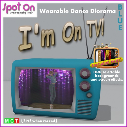 "Spot On ""I'M ON TV!"" DANCE DIORAMA! - Blue (Box)"