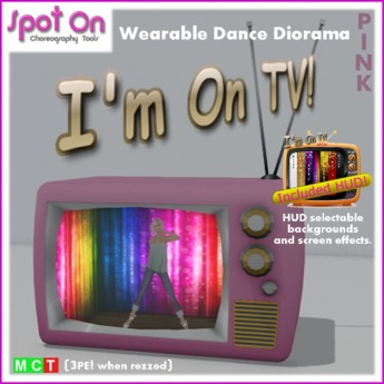 "Spot On ""I'M ON TV!"" DANCE DIORAMA! - Pink (Box)"