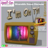 "Spot On ""I'M ON TV!"" DANCE DIORAMA! - Yellow (Box)"