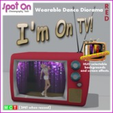 "Spot On ""I'M ON TV!"" DANCE DIORAMA! - Red (Box)"