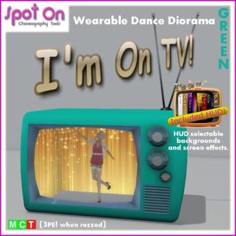 "Spot On ""I'M ON TV!"" DANCE DIORAMA! - Green (Box)"
