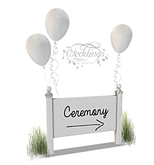 Wedding Ceremony Signs - White - 4 included - Trans Only