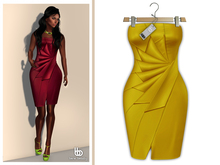 Bens Boutique - Erica Cocktail Dress Yellow