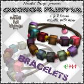 ::NT:: <3 GRUNGE PAINTER Bracelets (EMO PUNK STYLE)