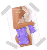 Pink Acid Mesh Bear Shoulder Purse & Clutch ALL Colors Pack