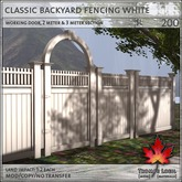 Trompe Loeil - Classic Backyard Fencing White [mesh]