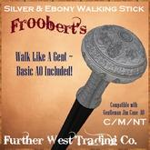 @DF@ Silver and Ebony Walking Stick