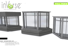 inVerse® MESH Bay Windows set  - full perm  for developers