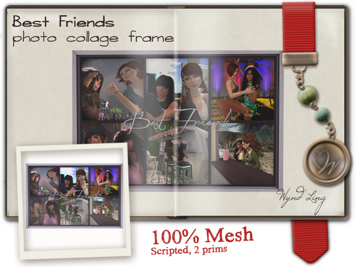 -W-[ Photo Collage ]100% Mesh Best Friends Frame (mod/trans)