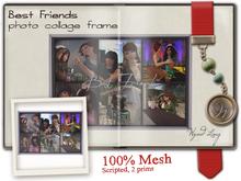 -W-[ Photo Collage ]100% Mesh Best Friends Frame (mod/trans)