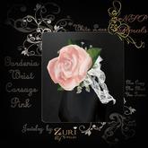 NSP Gardenia Wrist Corsage (W Pink)