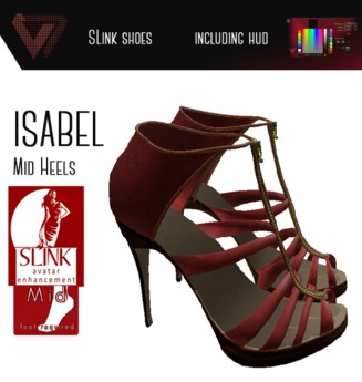 [Promo][SLink] Isabel Mid Heels with Texture HUD