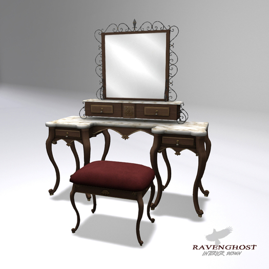 Reflecting Victorian Dressing Table & Stool