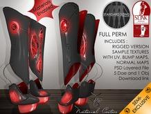 NC : #M02_Full Perm Shoe Aliad Slink High Rigged Boots