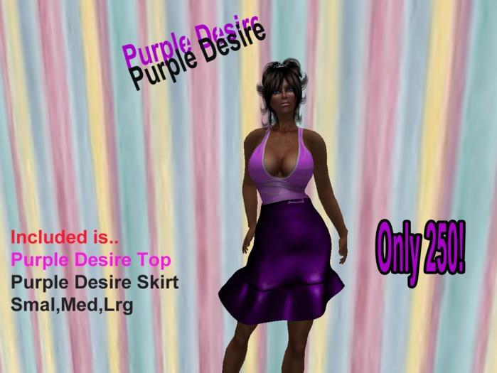 Purple Desire Outfit Boxed